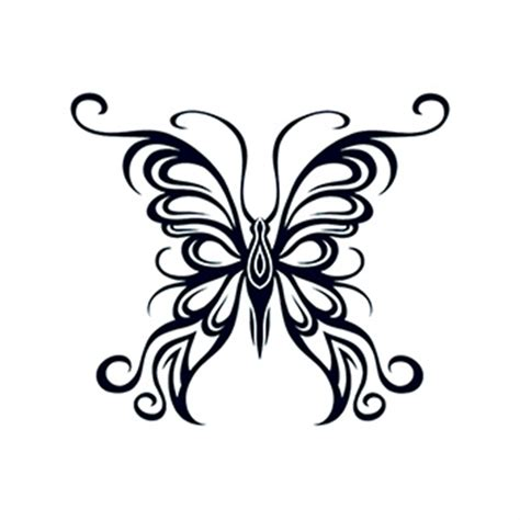 butterfly tattoo no outline tribal outline butterfly temporary tattoo usimprints