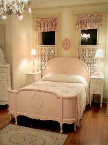 pink vintage room with size bed mildly distressed