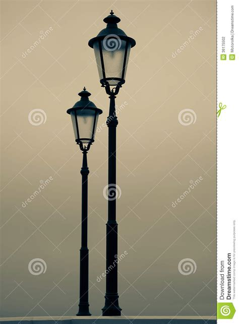 old time street lights old street l stock photography image 36175502