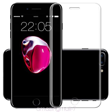 Tempered Glass Kartun Karakter Cover Iphone 7 Plus Dijamin curved premium tempered glass screen protector guard for iphone 7 plus ten ebay