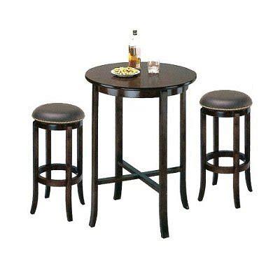 nailhead bar stool leather york espresso pub table set with 2 leather nailhead swivel