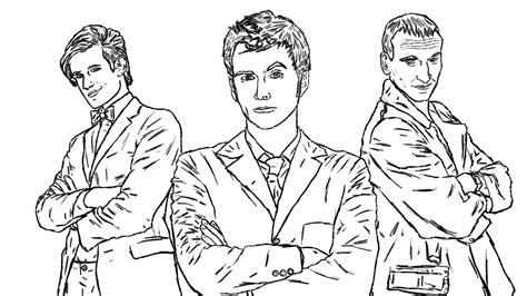 doctor who coloring pages doctor who coloring page the doctor nine ten eleven