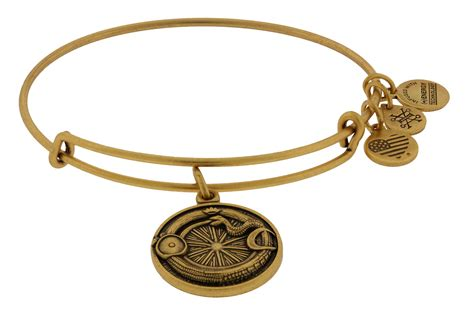 alex and ani expandable ouroboros charm bracelet gold