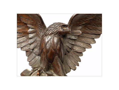 Eagle Decorations by Easel Black Forest Decor Eagle Edelweiss 19th
