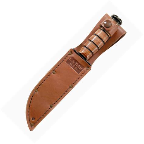 ka bar leather sheath usa logo brown 5 25 quot blades