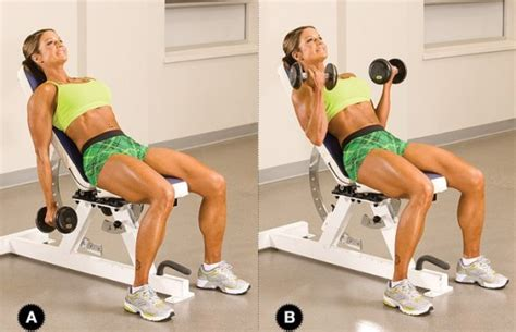 dumbbell bicep curl incline bench the 30 day challenge for sexy and toned arms
