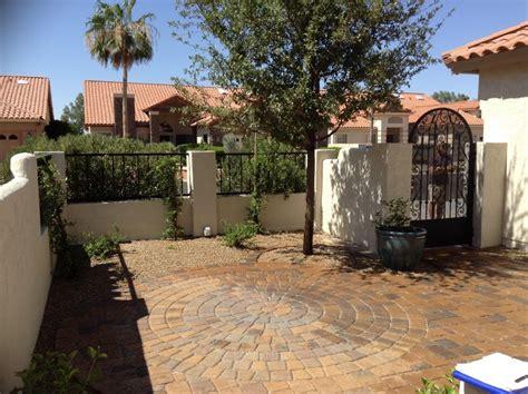 circular paver patio circular paver patio terraverde landscape solutions