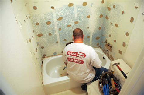 bathroom remodel process how we remodel your bathroom in two weeks or less re bath