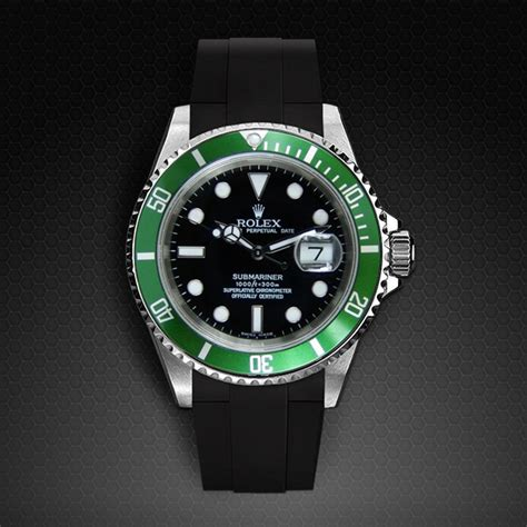 Rubber B For Rolex Submariner for rolex submariner velcro 174 series rubber b