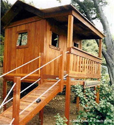 los angeles wood tree houses play forts play decks