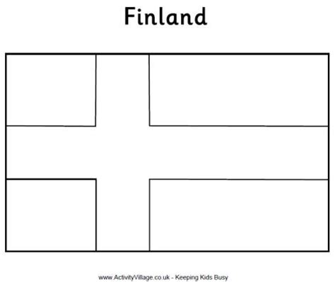 finland flag free colouring pages