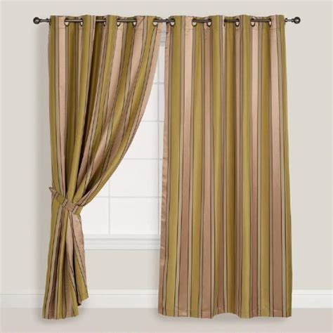taupe striped curtains sage and taupe striped imperial grommet top curtain