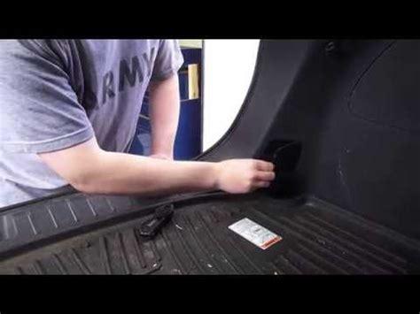 hyundai kia suv manual fuel door release youtube