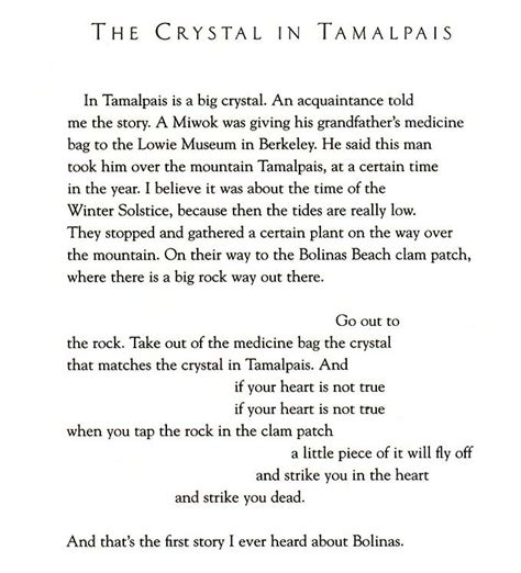 quot the crystal in tamalpais quot poem by joanne kyger with mp3
