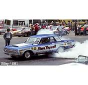 Steve Bagwells Big Mopar Super Stock Smokes The Tires In 1981 Photo