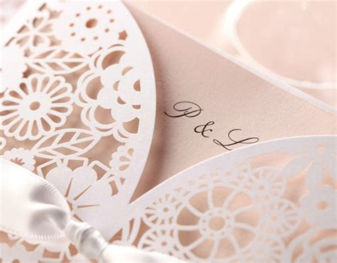wedding invitation with lace lace wedding invitations best choice for vintage and