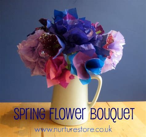 one dish at a time beautiful spring bouquet flower craft for kids flower bouquets spring flowers