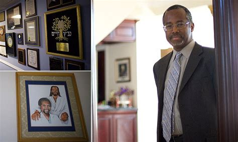 ben carson house inside ben carson s home complete with a huge shrine to himself daily mail online