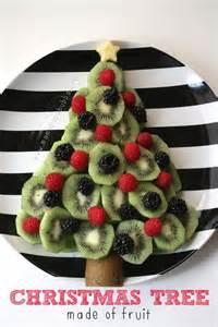 christmas tree made of fruit christmas winter pinterest