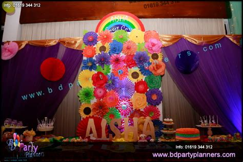 rainbow themed events rainbow theme birthday decortion bd party planners bd