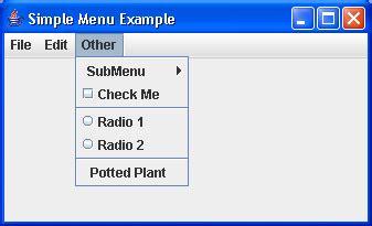 java swing popup menu creating popup menus with swing menu 171 swing jfc 171 java
