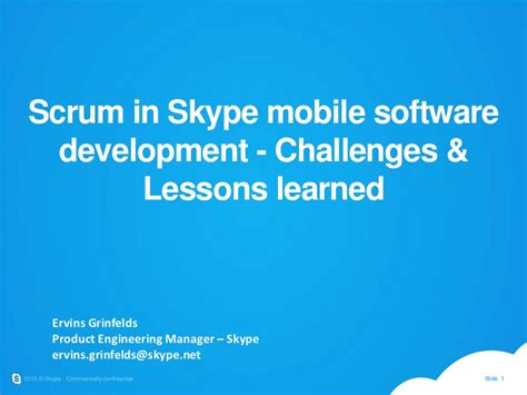 skype mobile software scrum in skype mobile software development challenges