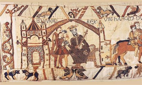 Tapisserie De Bayeux Entière by Anglo Saxon Archaeology Edward Sends Harold To Normandy
