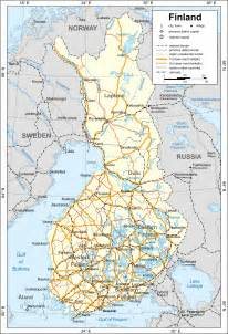 maps of finland detailed map of finland in