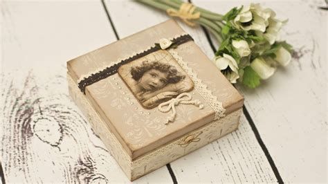 tutorial decoupage foto decoupage vintage box decoupage tutorial by