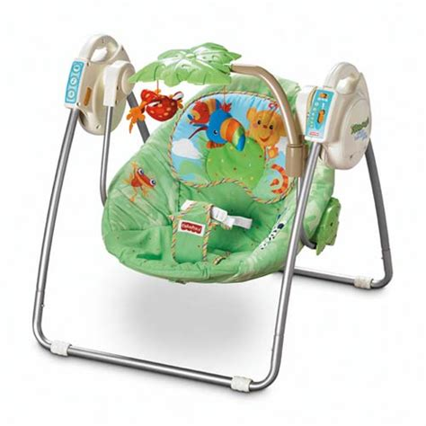 take along baby swing fisher price rainforest open top take along swing model