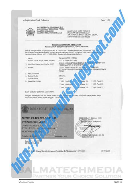 surat dan penulisan company profile