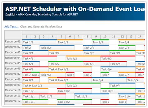 Tutorial Asp Net Vb | asp net scheduler with on demand event loading daypilot code