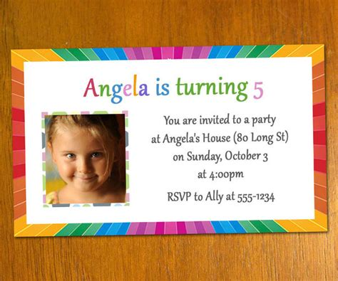 5th Birthday Invitation Card Template by 11 Free Printable Birthday Invitations Free Premium