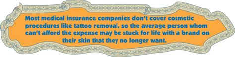 tattoo removal companies most insurance companies don t cover cosmetic