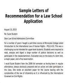 sle school letter of recommendation 6 exles in word pdf