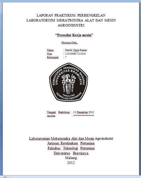 contoh pembuatan laporan praktikum biologi cover laporan praktikum