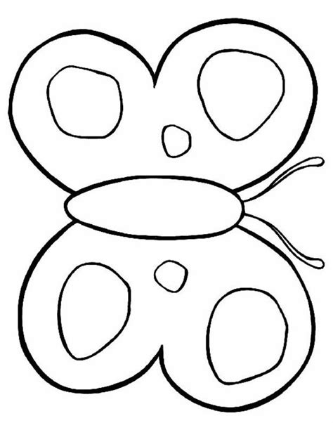 butterfly coloring pages for kindergarten butterfly coloring pages kids coloring home