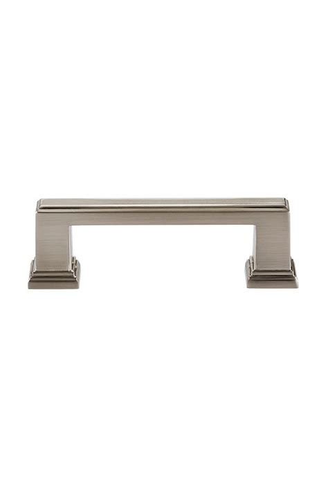 Kitchen Craft Hardware Transitional Cabinet Pull In Brushed Nickel 96mm