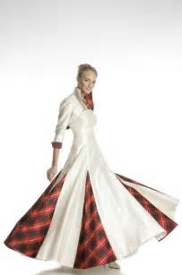 scottish wedding dresses wedding dress with tartan insets celtic wedding