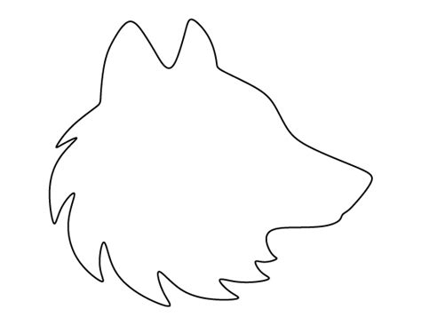 free headshot template wolf pattern use the printable outline for crafts