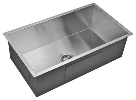 modern kitchen sinks 33 quot x 19 quot zero radius single bowl stainless steel