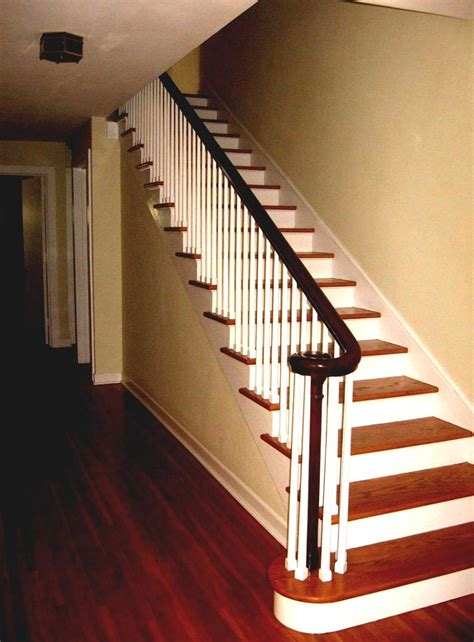 best home interior design stairs with wooden fence