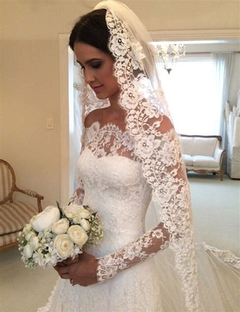 Custom Made Wedding Dresses by White The Shoulder Lace Sleeve Bridal Gowns