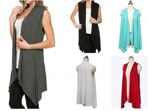 Casual Top Atasan Pakaian Informal Wanita Gray Thin Stripe 329588 model cardigan tanpa lengan trend 2015