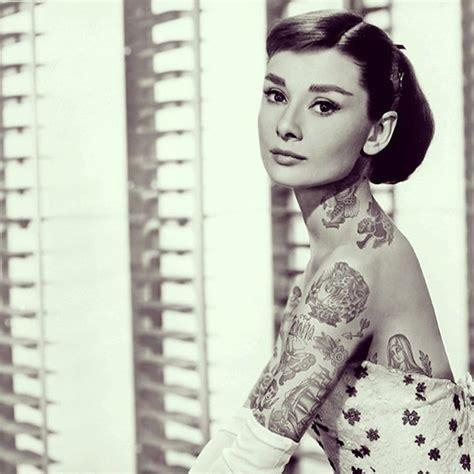 audrey hepburn tattoo 16 glamorous hepburn tattoos tattoodo