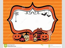 Halloween party frame stock vector. Image of blank, black ... About:blank Free Halloween Clipart