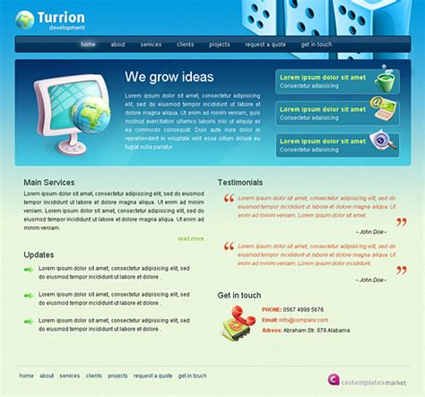 html business templates free with css free website html css template turrion web design