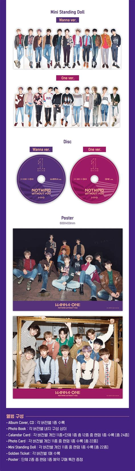 Wanna One Album Nothing Without You Wanna Versi wanna one 1st mini album prequel repackage to be one nothing without you cd one ver poster