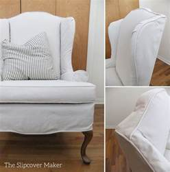 slipcovers for wingback sofas armchair slipcovers the slipcover maker