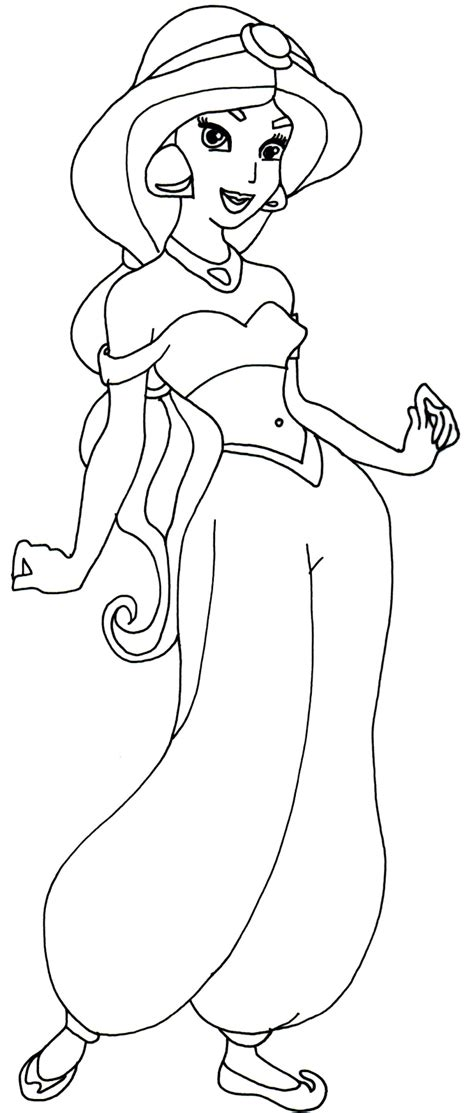 Galerry disney princess coloring pages jasmine and aladdin
